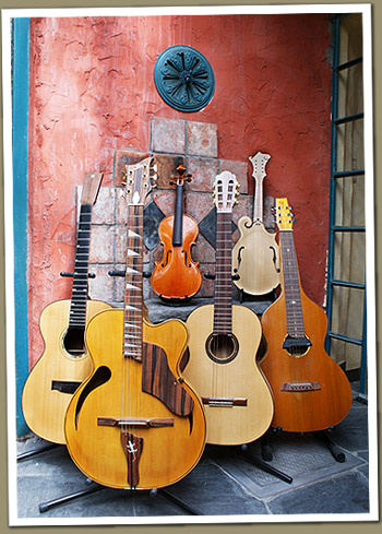 collection of instruments handmade by Jean-Luc Stockman